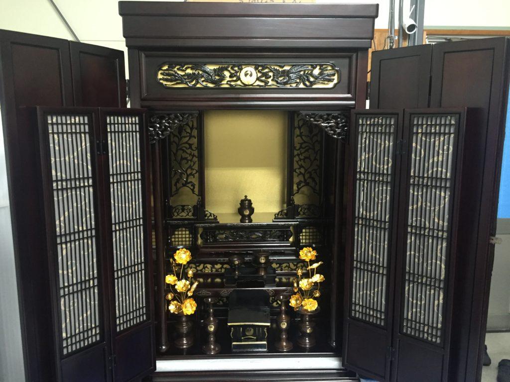 唐木仏壇(日蓮正宗)修理・お洗濯・洗い(神戸市)