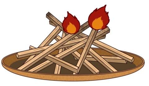 お盆のはなし4 迎え火、送り火の方法